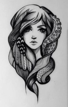Drawn tentacle old school Tattoo Traditionel NH Pin &