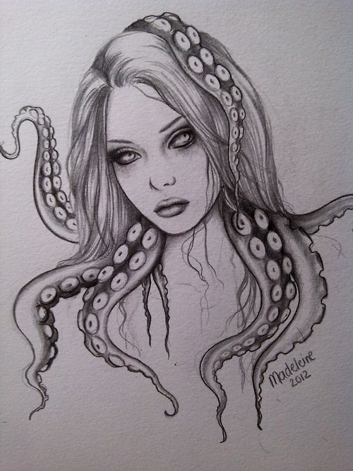 Drawn tentacle traditional On Pinterest more Artwork 267