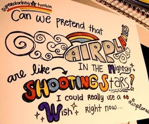 Drawn quote song lyric  It airplanes Song about
