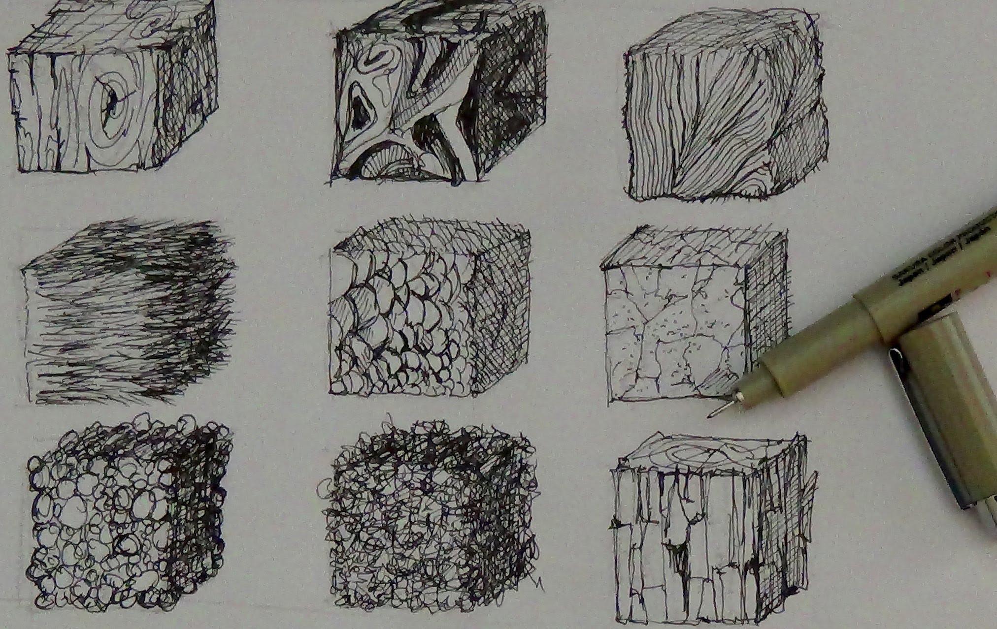 Drawn texture Realistic How Tutorials How Pen