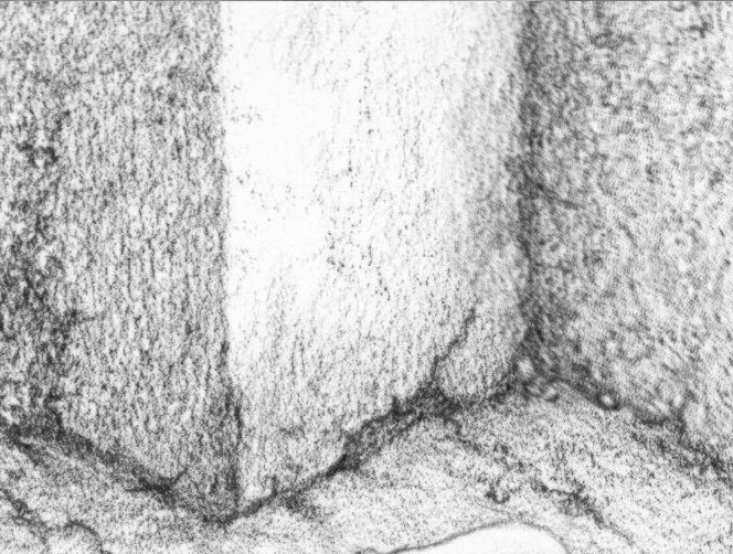 Drawn rock hair texture Pencil Methods Shading and texture