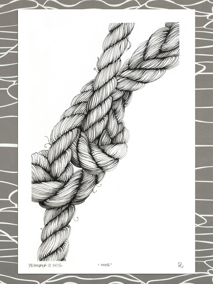 Drawn rope knotted rope Illustration Best rope 25+
