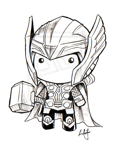 Drawn thor Thor art inspiration Of Dash