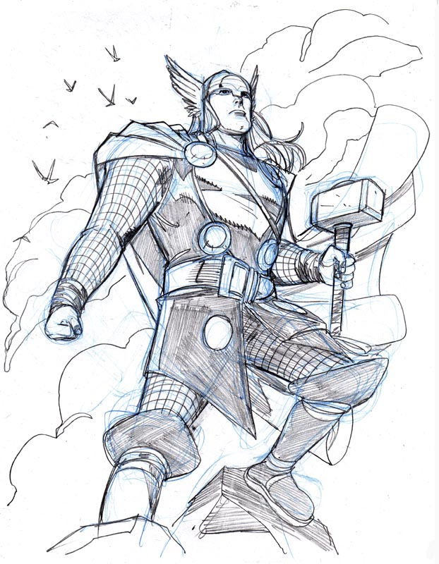 Drawn thor Drawings by Wieringo Thor GOD