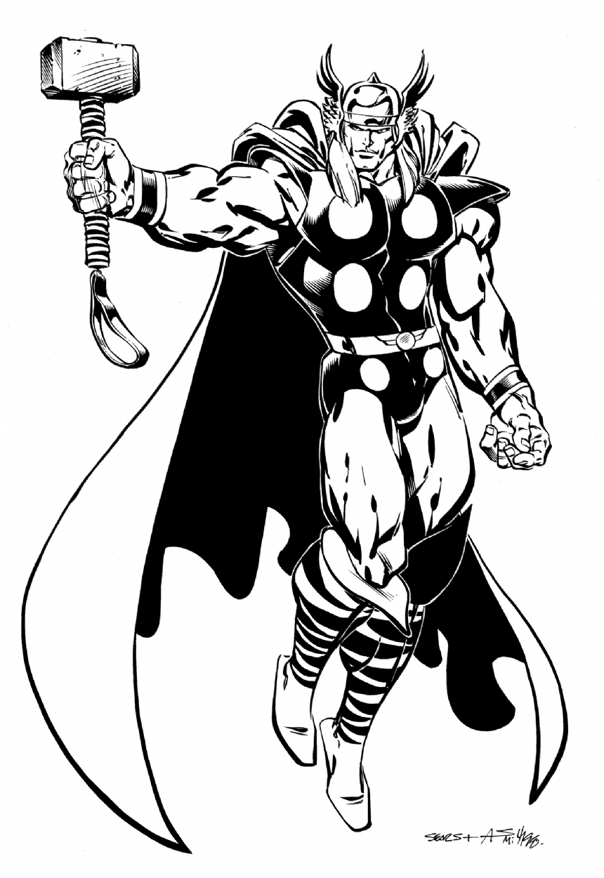 Drawn thor By Bart Phil Art Comic