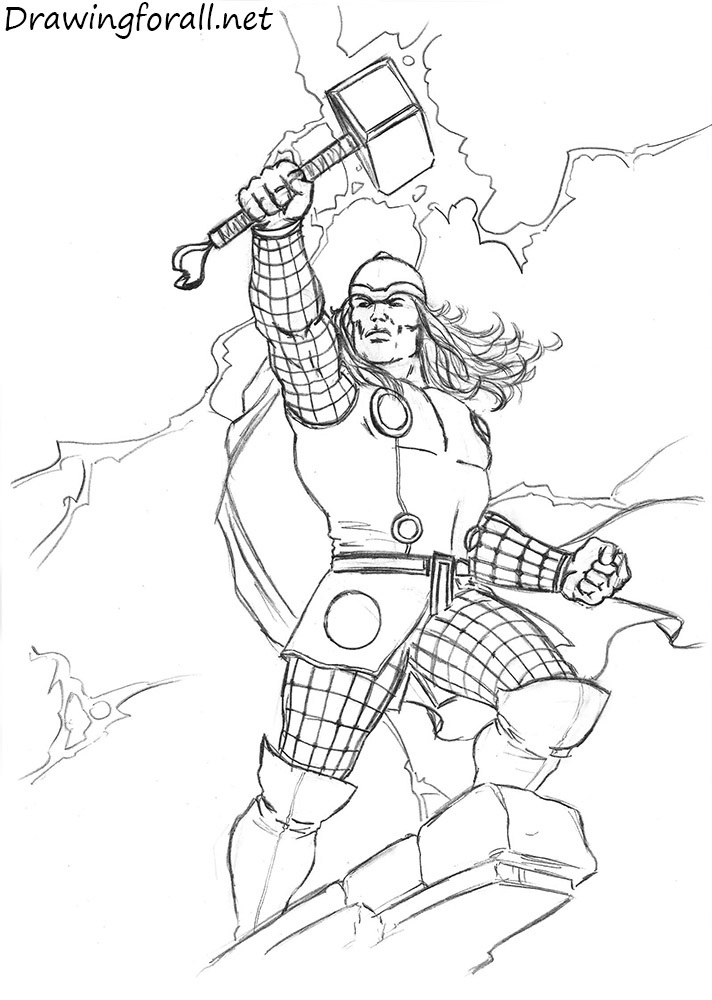 Drawn thor How Draw DrawingForAll Thor step