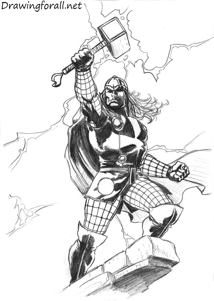 Drawn thor Thor Draw Thor Draw to
