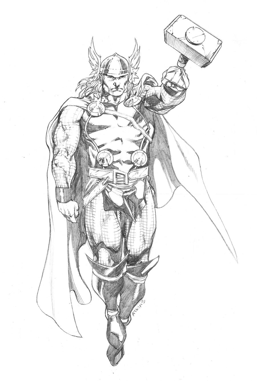 Drawn thor Atkins Thor Avengers Robert April