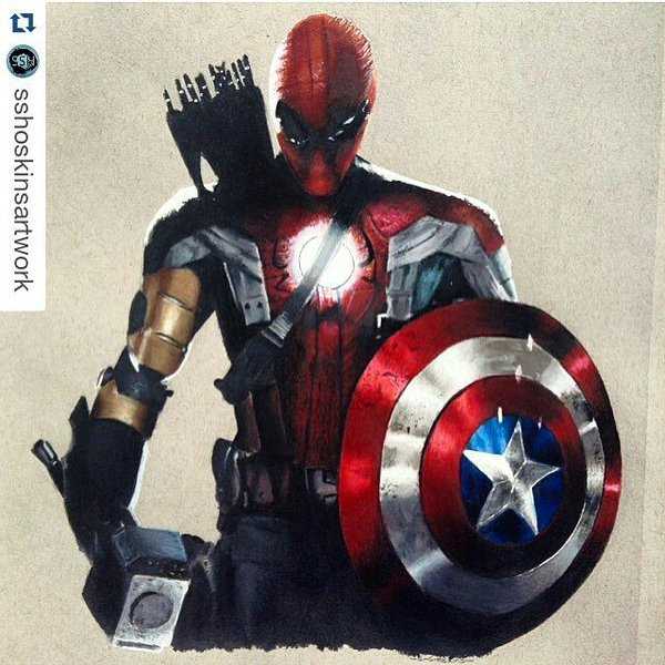 Drawn thor Drawing Spiderman #… #Art  #spiderman #thor