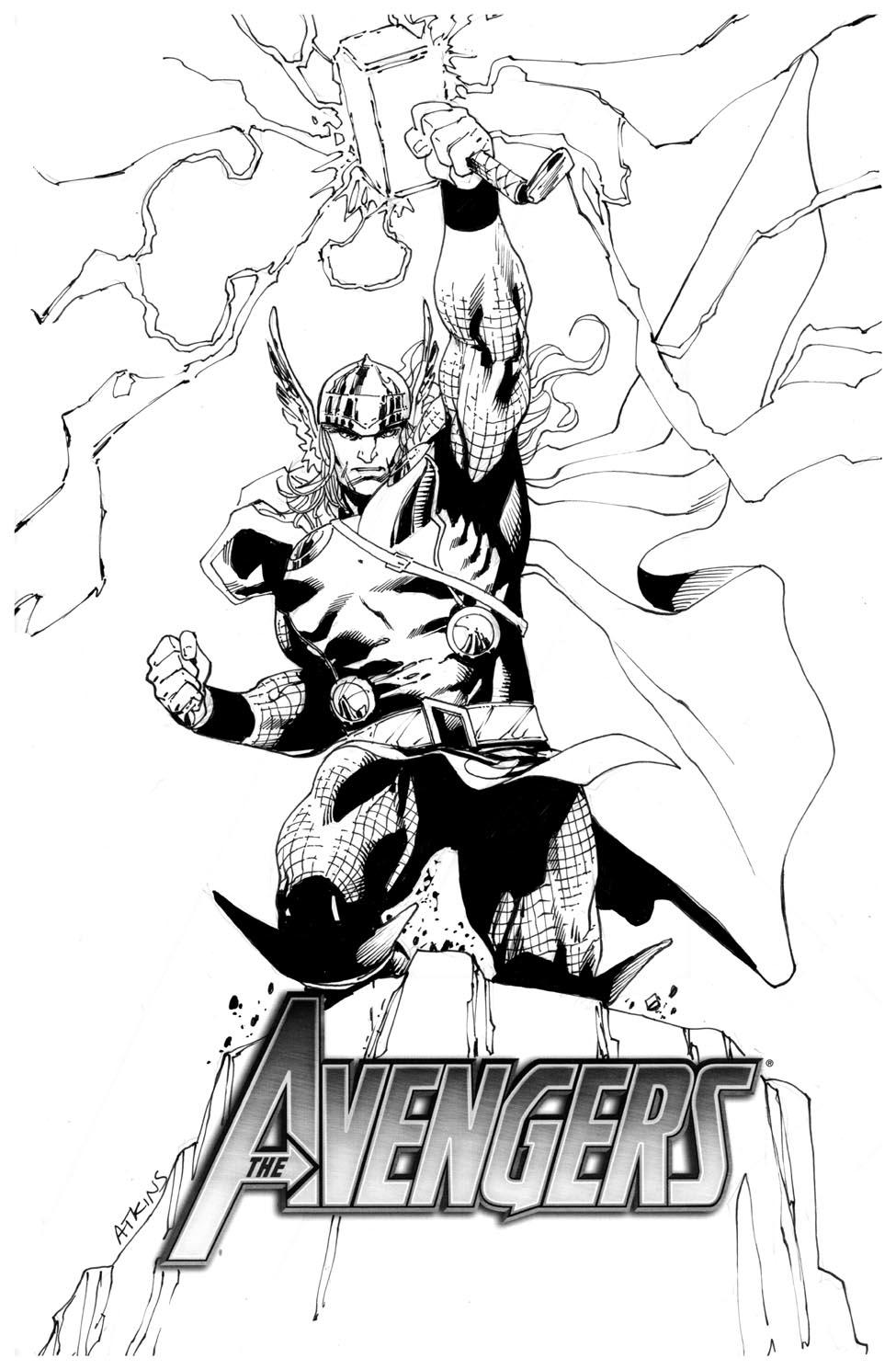 Drawn thor Drawing Spiderman Art Avengers April Thor April