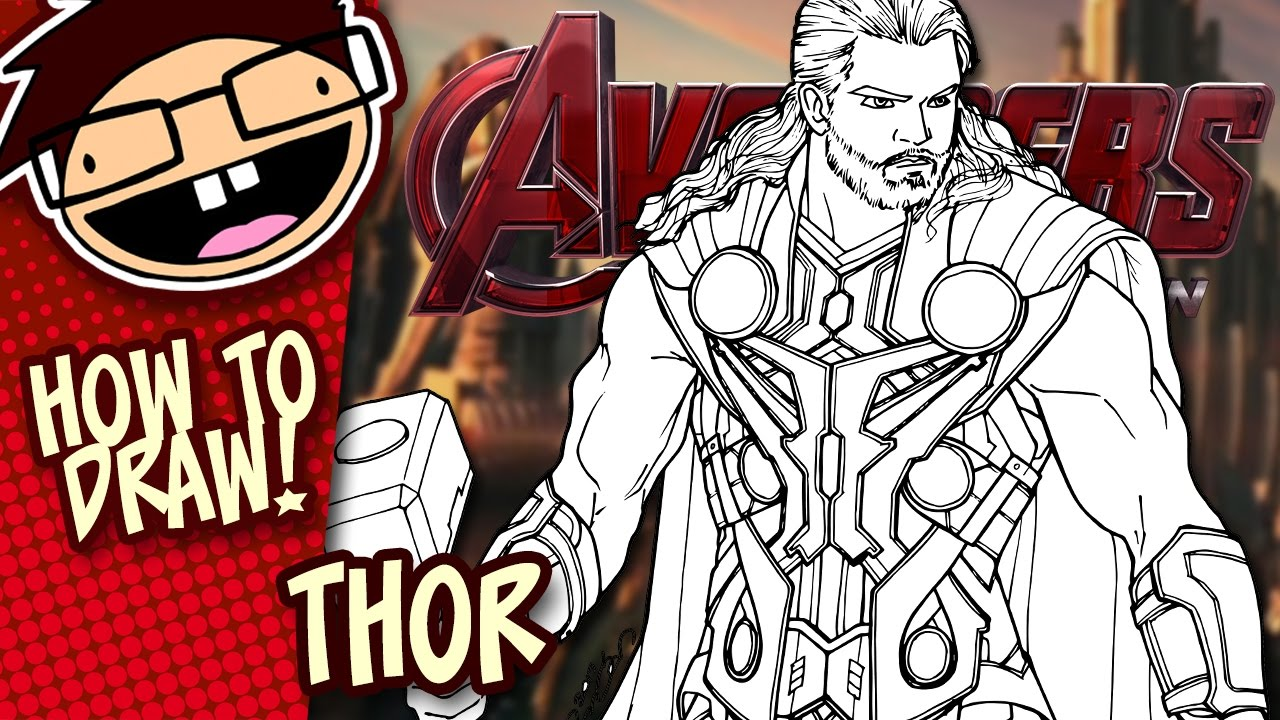 Drawn thor Drawing Spiderman Step by Tutorial How (Avengers)