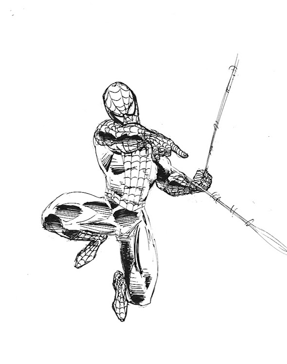 Drawn thor Drawing Spiderman Spider Draw Spidey Von The