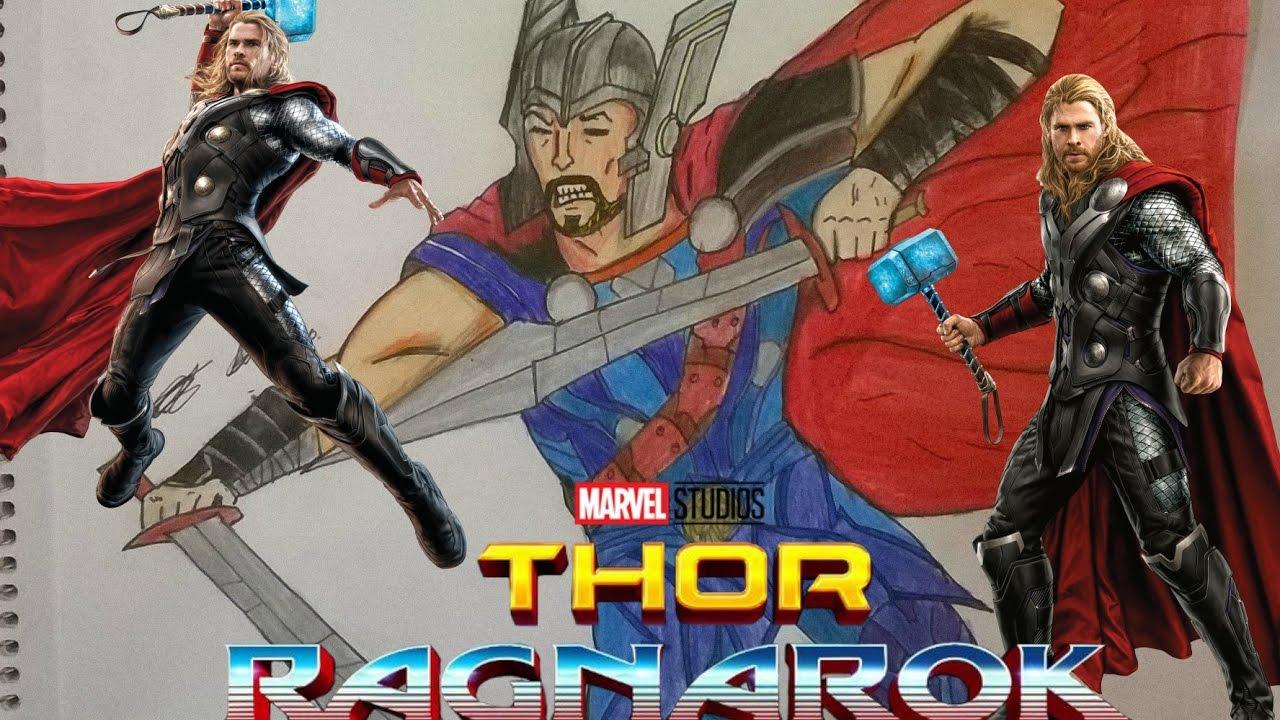 Drawn thor Drawing Spiderman Thor DRAWING DRAWING Art Promo