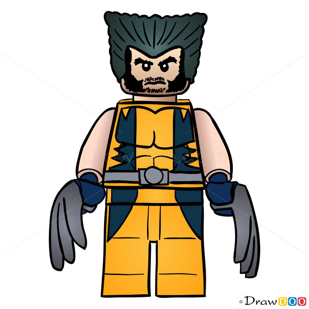 Drawn thor Drawing Wolverine Heroes Lego Wolverine Super How