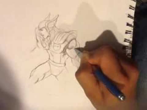 Drawn thor Drawing Wolverine Draw How Thor to How