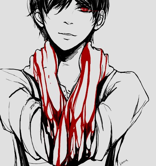 Drawn tie blood red 274 on Anime images Bloody