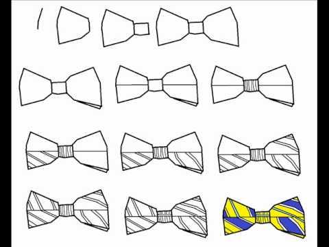 Drawn tie bow tie Step Tutorial Step Step To