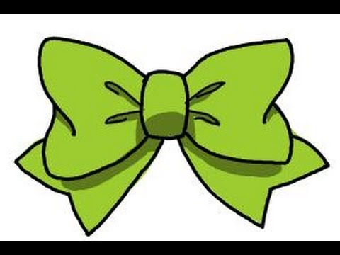 Drawn tie bow tie Tie to a bow How