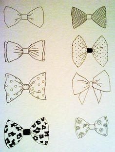 Drawn tie bow tie Drawing tie Templates Bow bow