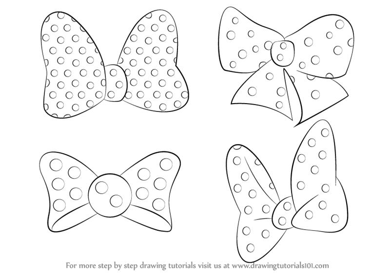 Drawn tie bow tie Bow Step Step (Minnie to