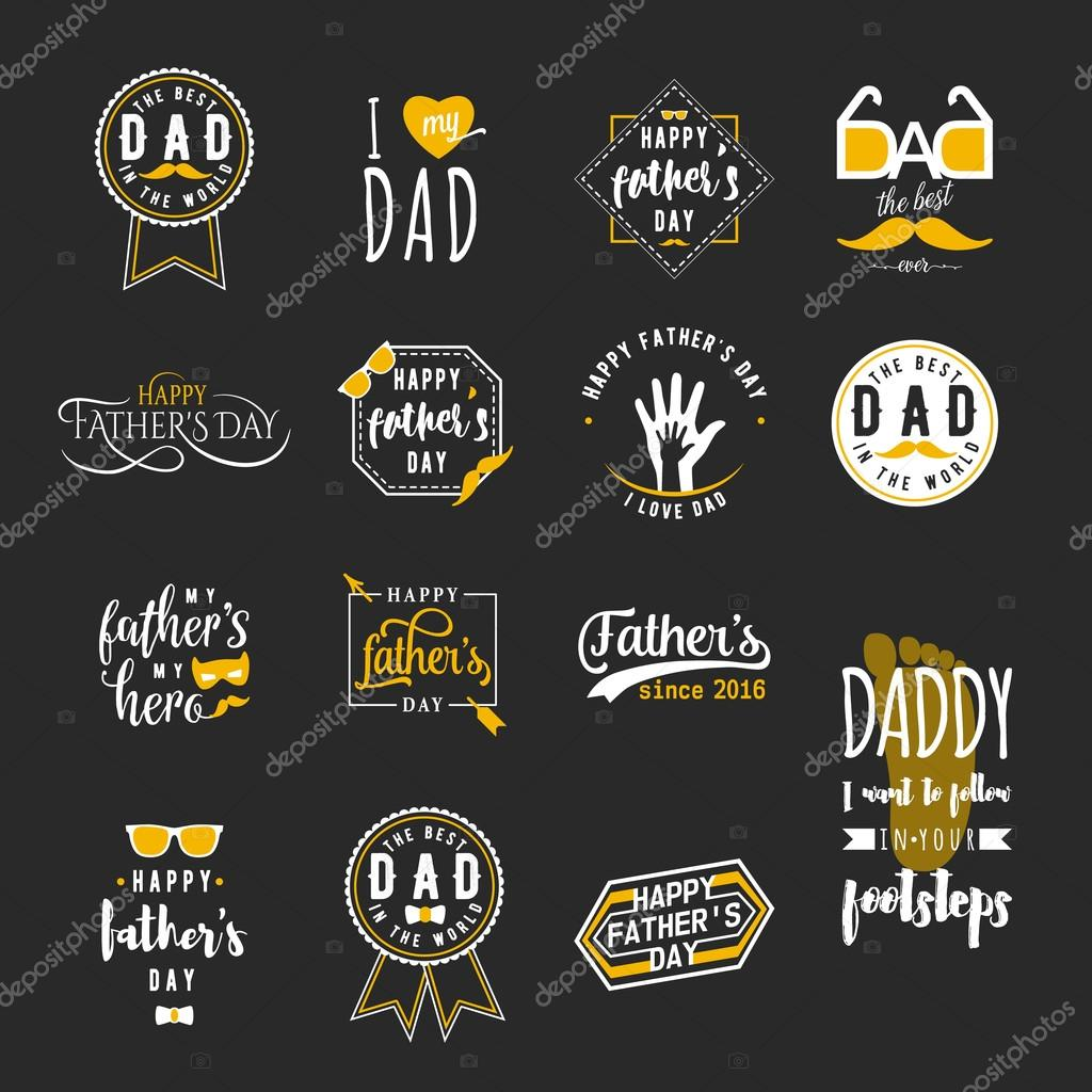 Drawn tie father's day Badges father for tie design