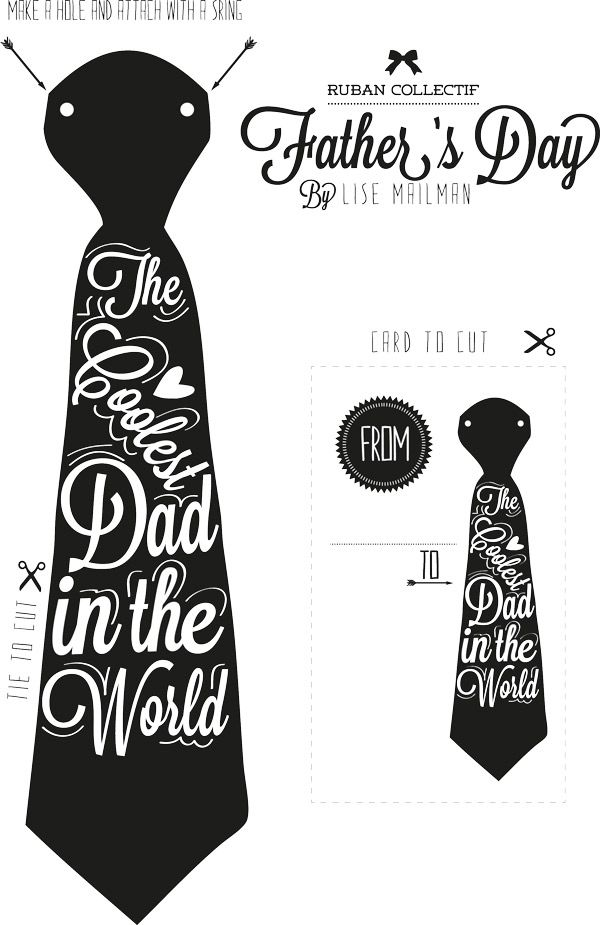 Drawn tie father's day Printable Day with Sweetest @Cyd