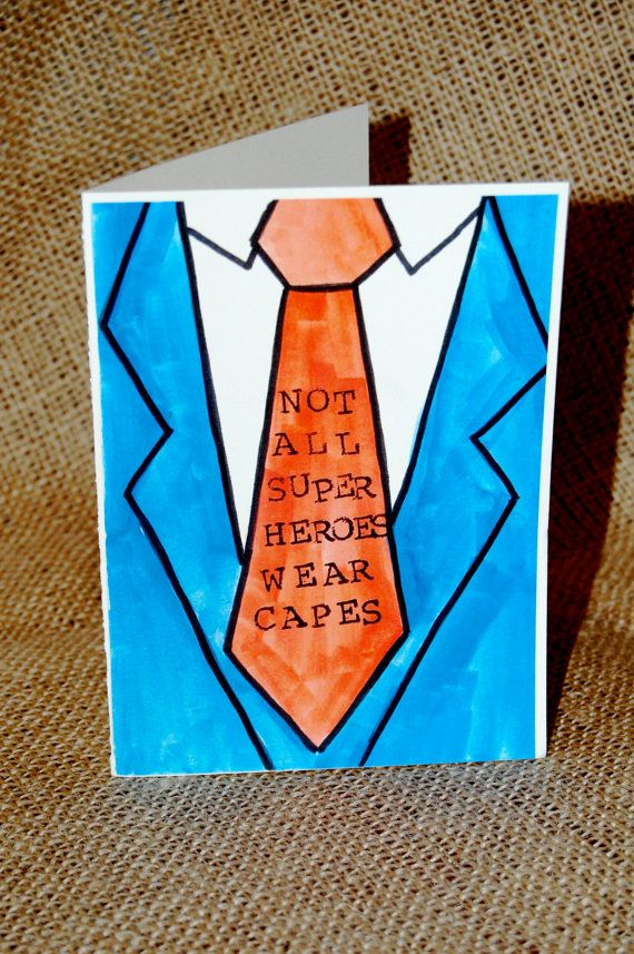 Drawn tie father's day Card Day Gifts best Day