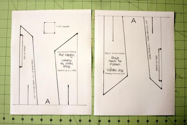 Drawn tie printable A  Ties Neck Sew