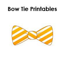 Drawn tie printable Kids and bow bow paper