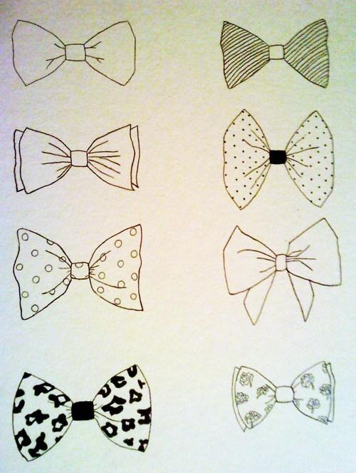 Drawn ribbon cute bow Quote Menswear Tie tie Classy