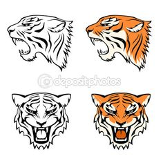 Drawn tigres logo To drawings # Tiger Drawing