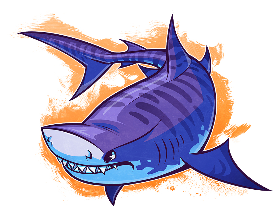 Drawn tiger shark #10