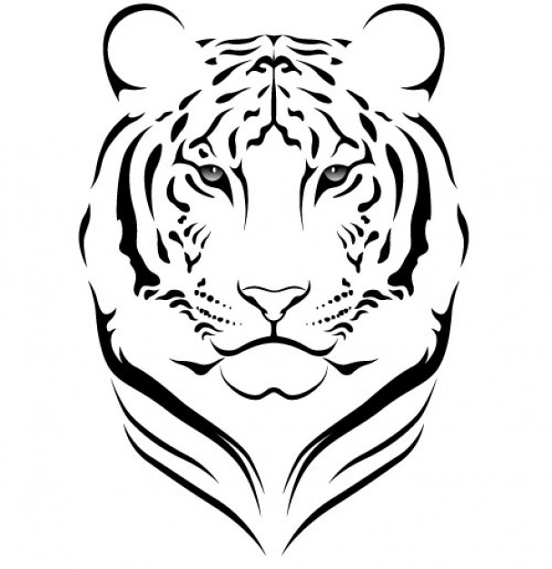 Tigres clipart side view #1