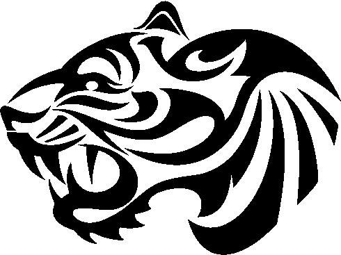 Drawn tigres logo Pinterest Logos Tribal Decal Tiger