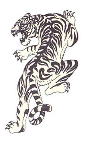Drawn tigres mean Tattoo and Drake by Tiger