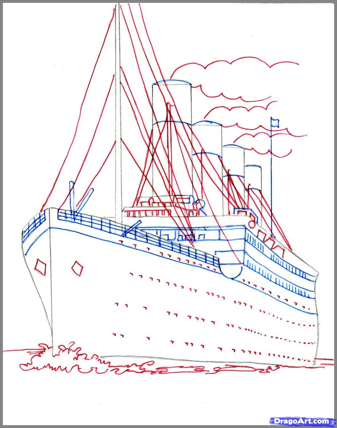 Drawn titanic Titanic the to Titanic draw