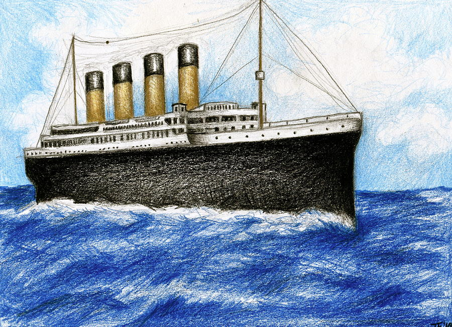 Drawn titanic front Images: Titanic <b>Titanic Drawing</b>