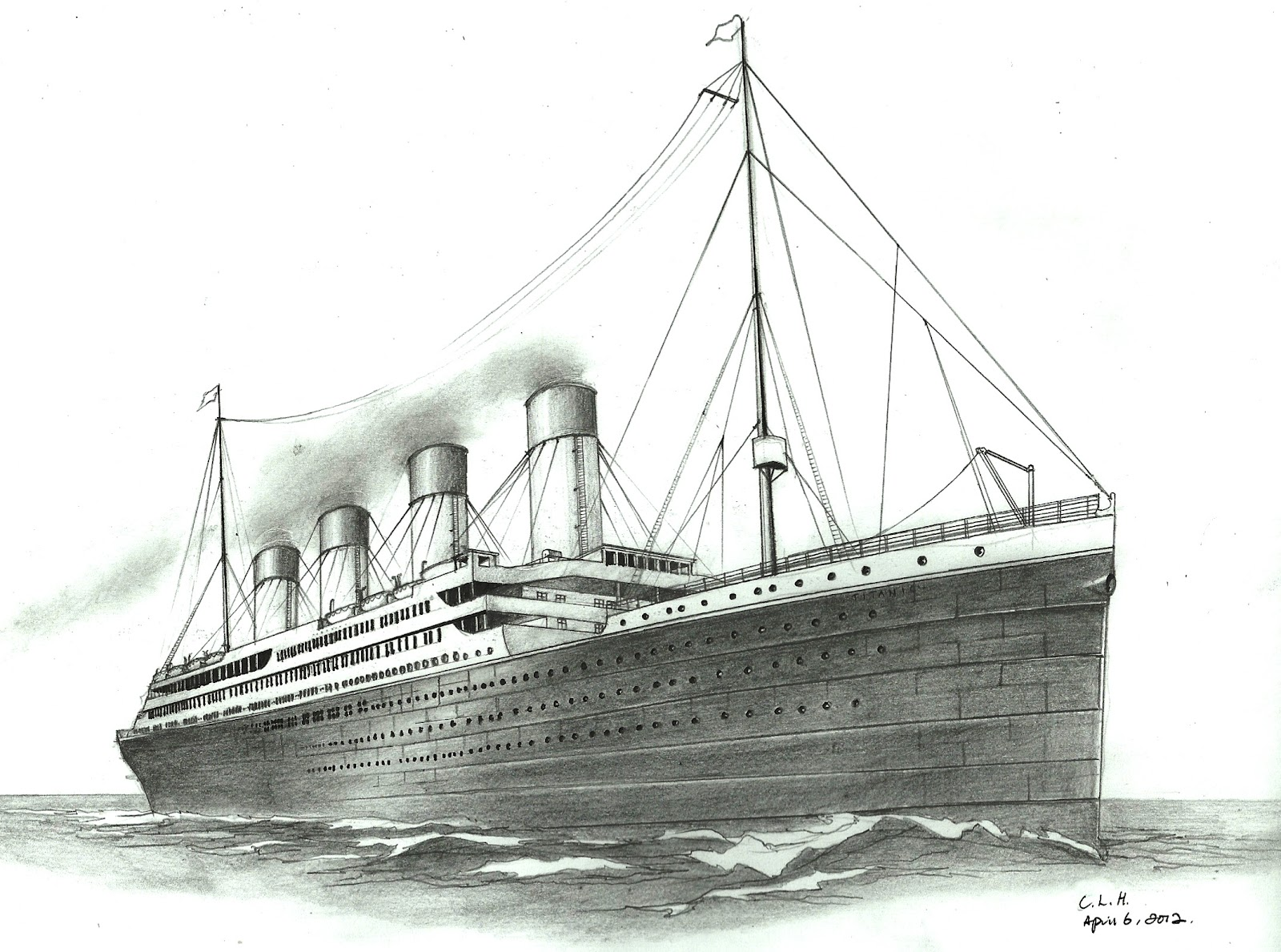 Drawn titanic Art Titanic Drawing Pencil Realistic