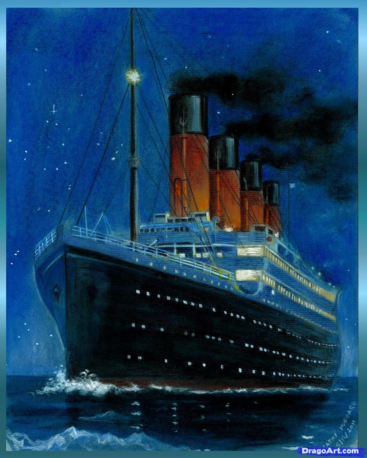 Drawn titanic simple Titanic how draw  titanic