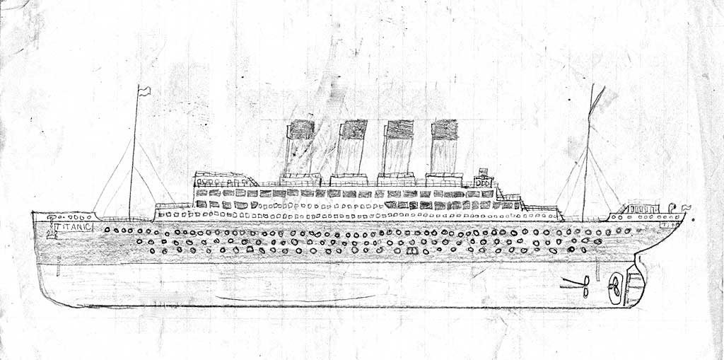 Drawn titanic simple Other A hull Shipping of