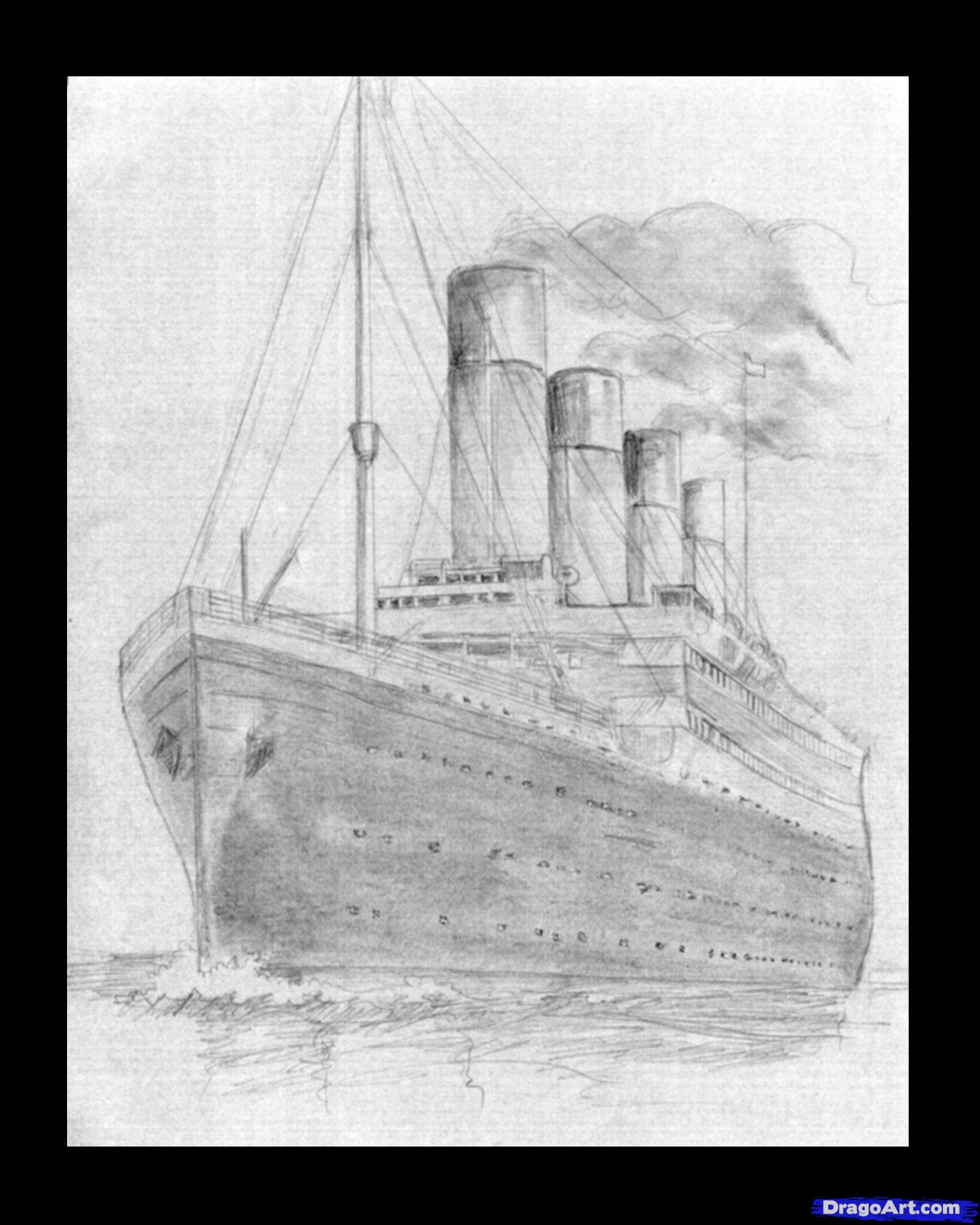 Drawn titanic awesome By Step Titanic the step
