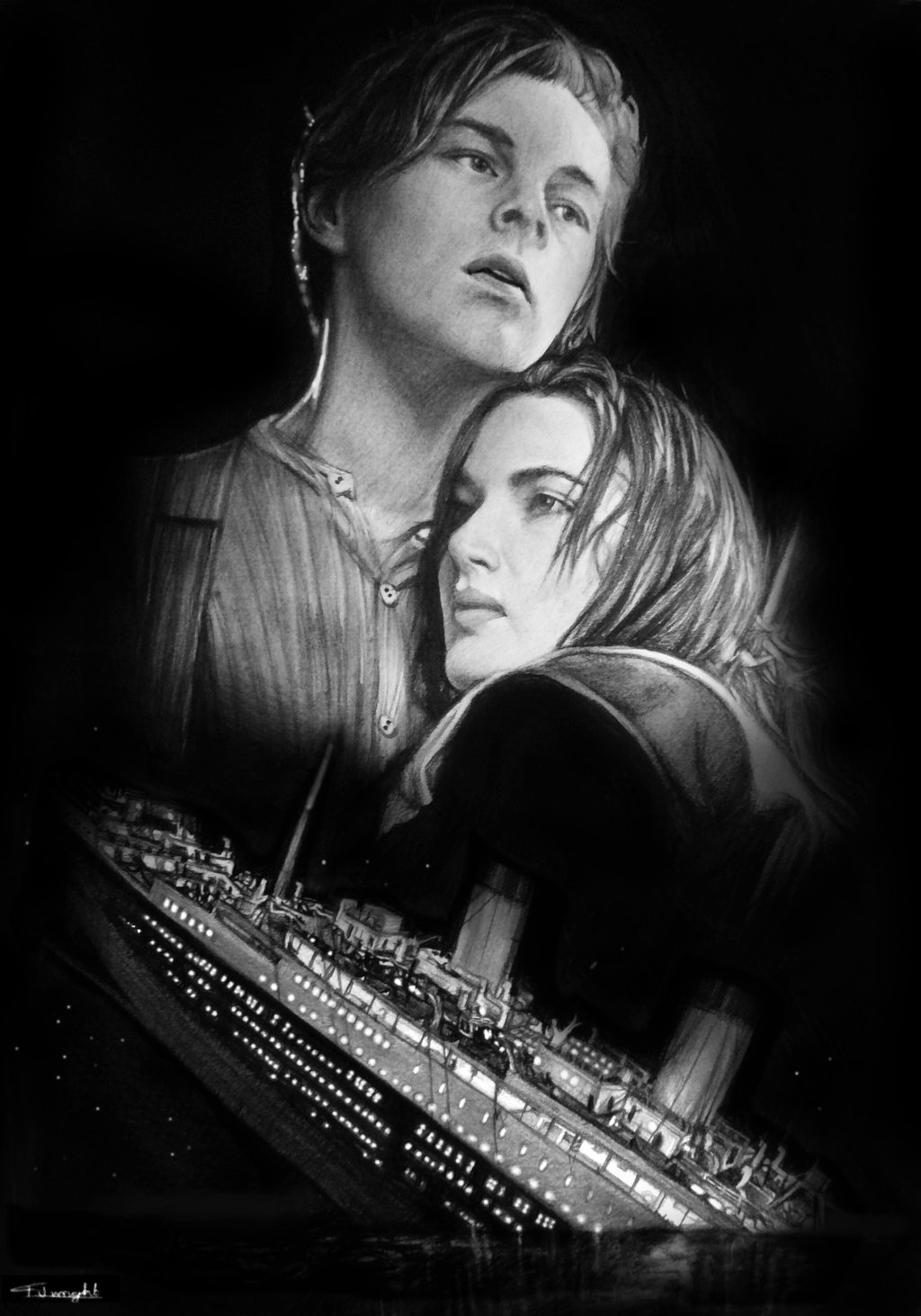 Drawn titanic awesome TITANIC tomwright666 tomwright666 by TITANIC