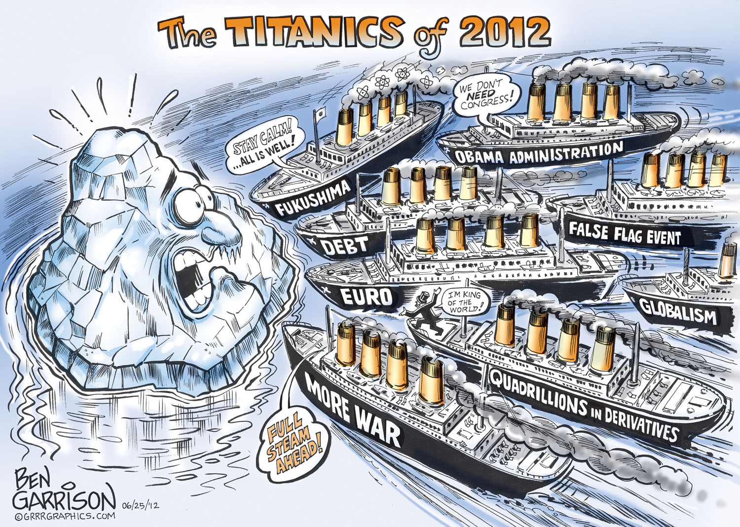 Drawn titanic cartoon On 2012 30 The GrrrGraphics