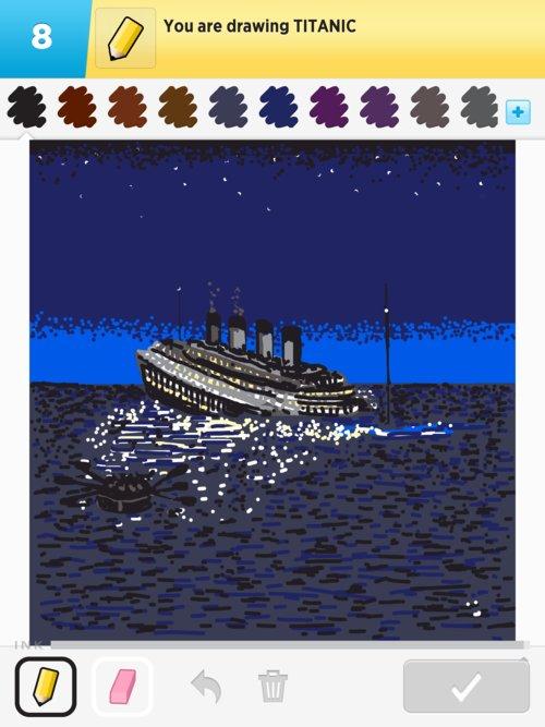 Drawn titanic draw something Something Drawings in The titanic