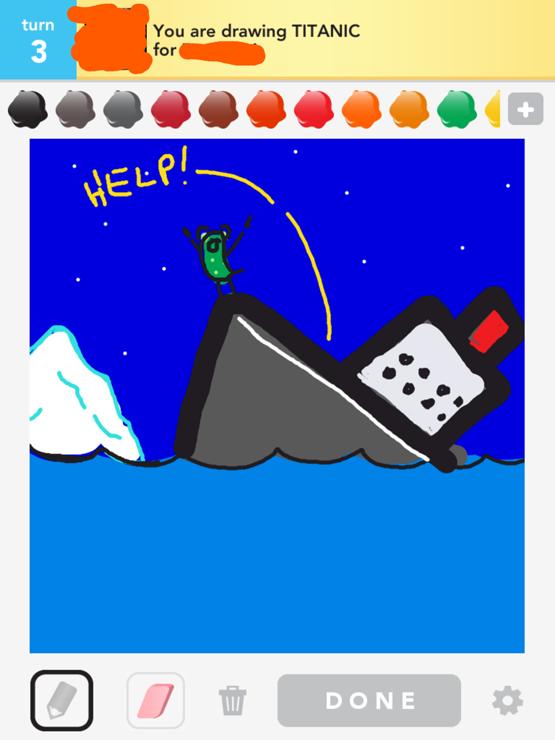Drawn titanic draw something 2012