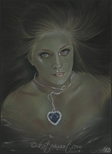 Drawn titanic original Heart mermaid ART of ocean
