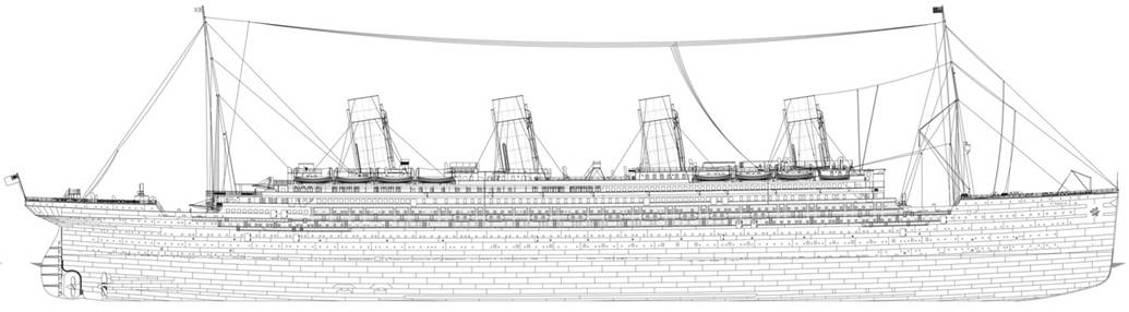 Drawn titanic side view Service The punchline Malcolm 15