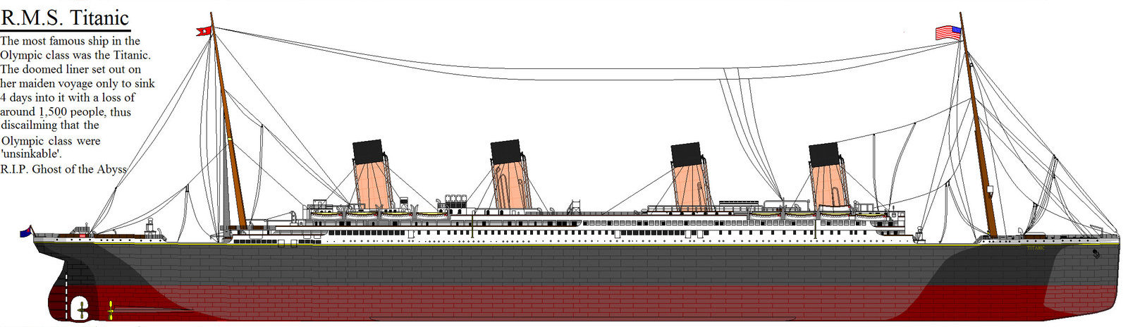 Drawn titanic side view TitanicSideDraw Uncategorized Ocean Liner Blogger
