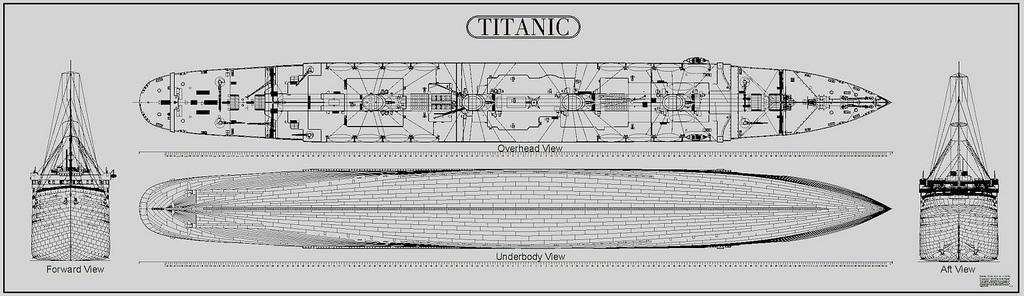 Drawn titanic side view Titanic R S CAD M