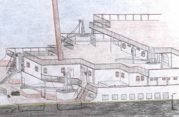 Drawn titanic side view This  drawing) here Titanic/Olympic